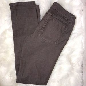 Prana Brown High Rise Skinny Jeans 6/28